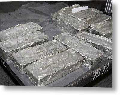 Palladium Bars Metal Print by Ria Novosti