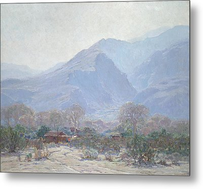 Palm Springs Landscape With Shack Metal Print by John Frost