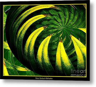 Palm Tree Abstract Metal Print by Rose Santuci-Sofranko