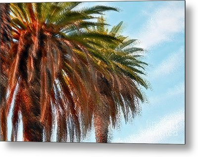 Palms A'glo Metal Print by Gwyn Newcombe