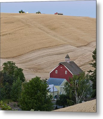 Palouse Wa Farm Metal Print by Tony Locke