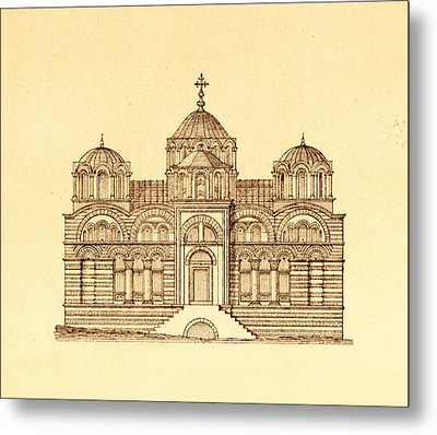 Pammakaristos Byzantine Church In Constantinople  Metal Print by Pictus Orbis Collection