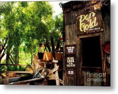 Pan For Gold In Old Tuscon Arizona Metal Print by Susanne Van Hulst