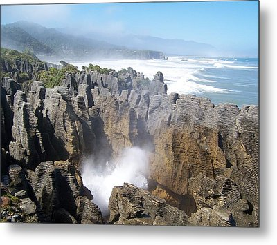 Metal Print featuring the photograph Pancake Rocks Blowhole by Peter Mooyman
