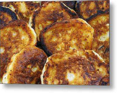 Pancakes It Is Food Of Poor People Metal Print by Aleksandr Volkov