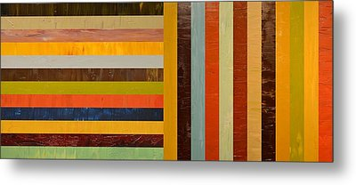 Panel Abstract - Digital Compilation Metal Print by Michelle Calkins