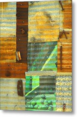 Panel With Peas Metal Print by Joe Jake Pratt