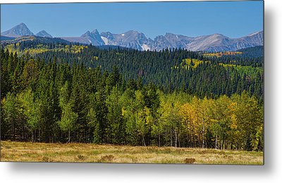 Panorama Scenic Autumn View Of The Colorado Indian Peaks Metal Print by James BO  Insogna
