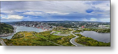 Panorama View Of St. John's Newfoundland And Labrador Canada Metal Print by Steve Hurt