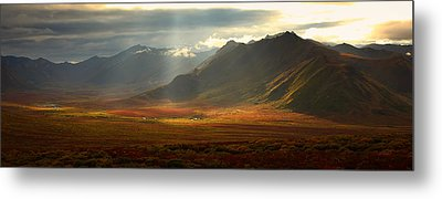 Panoramic Image Of The Cloudy Range Metal Print by Robert Postma