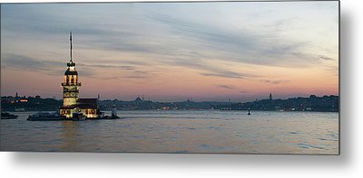 Panoramic View Of Maiden Tower Metal Print by Doruk Photography