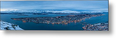 Panoramic View Of Tromso In Norway  Metal Print by Ulrich Schade
