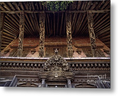 Panote Temple Struts - Nepal Metal Print by Craig Lovell