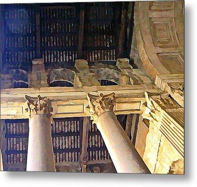 Pantheon Columns Metal Print by Mindy Newman