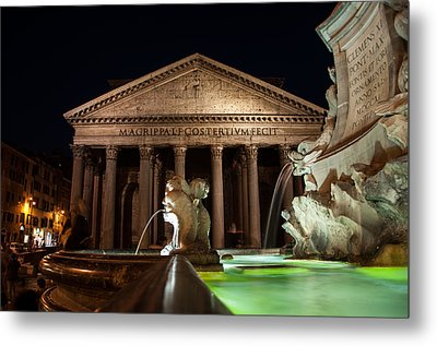 Pantheon Rome Metal Print by Stavros Argyropoulos