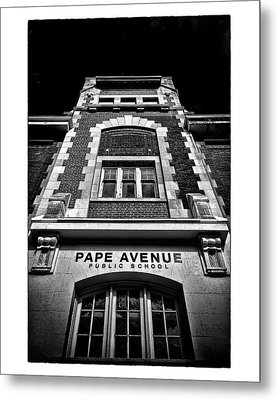 Metal Print featuring the photograph Pape Avenue Public School by Brian Carson