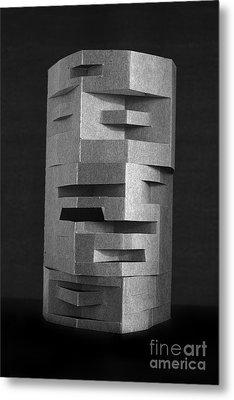 Paper Scuplpture Metal Print by Igor Kislev