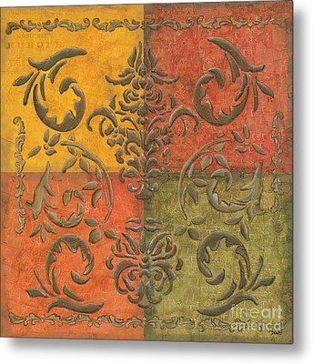 Paprika Scroll Metal Print by Debbie DeWitt