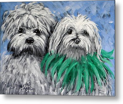 Parade Pups Metal Print by Jeanette Jarmon