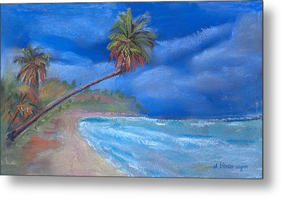 Metal Print featuring the pastel Paradise In Puerto Rico by Arline Wagner