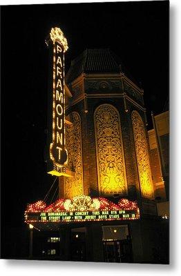 Paramount Theatre Illinois Metal Print by Todd Sherlock