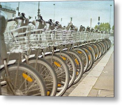 Paris Bikes Metal Print by Georgia Fowler