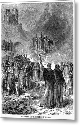 Paris: Burning Of Heretics Metal Print by Granger