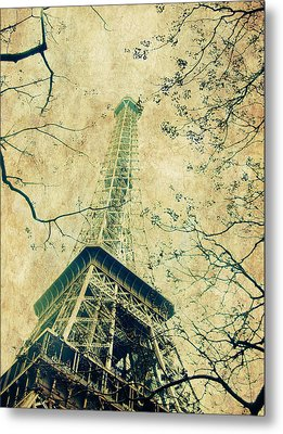 Paris Eiffel Metal Print by Antonietta Pics
