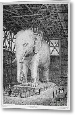 Paris: Elephant Monument Metal Print by Granger