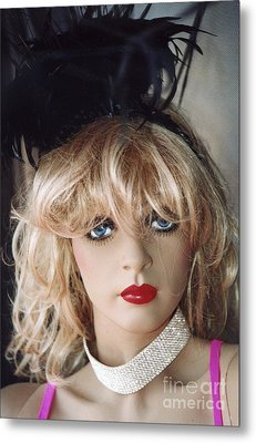 Paris Female Mannequin Art Deco Metal Print by Kathy Fornal