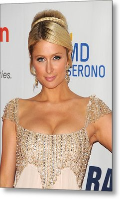 Paris Hilton At Arrivals For The 18th Metal Print by Everett