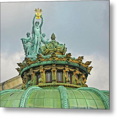 Metal Print featuring the photograph Paris Opera House Roof by Dave Mills