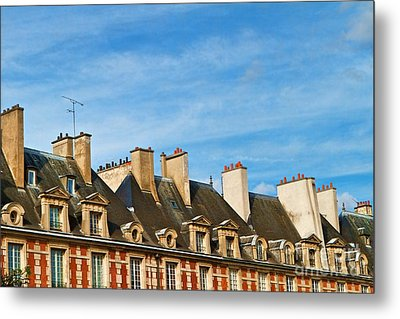 Metal Print featuring the photograph Paris Rooftops by Kim Wilson