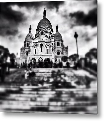 #paris #sky #skyporn #bnw #stairs Metal Print by Ritchie Garrod