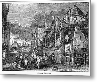 Paris: Street, 1830s Metal Print by Granger