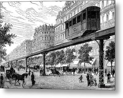 Paris: Tramway, 1880s Metal Print by Granger