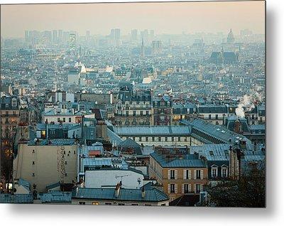 Paris View From Sacre-coeur Metal Print by Thanks for visiting my work !!