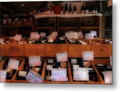 Paris Wine Shop Metal Print by Andrew Fare