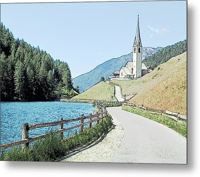 Parish Church St Nicholas Valdurna Italy Metal Print by Joseph Hendrix