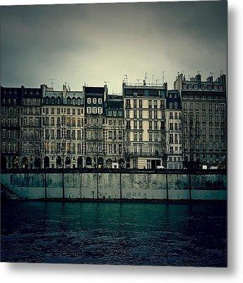 Parisian Architecture... Metal Print by Louise LeGresley