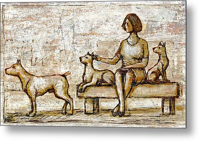 Park Bench Metal Print by Nato  Gomes
