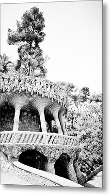 Park Guell Twists Metal Print by Lenny Carter