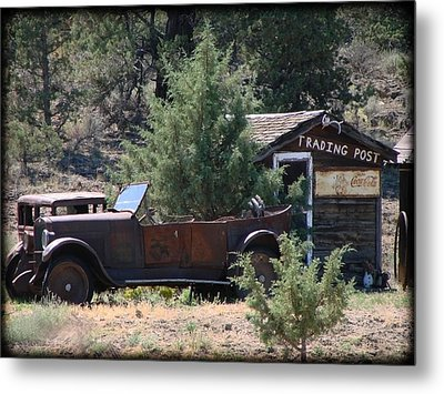 Parked At The Trading Post Metal Print by Athena Mckinzie