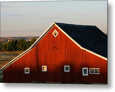 Metal Print featuring the digital art Parker Road Barn by Brian Davis