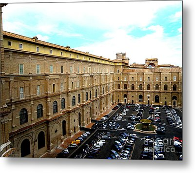 Metal Print featuring the photograph Parking Lot In Vatican by Tanya  Searcy