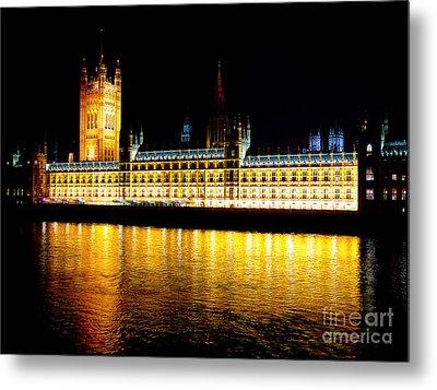 Parliament At Night Metal Print by Thanh Tran