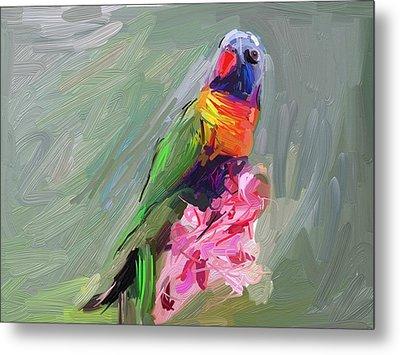 Parrot Metal Print by Bogdan Floridana Oana