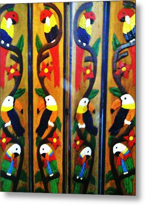 Parrots And Tucans  Metal Print by Unique Consignment