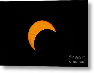 Partial Solar Eclipse Of 2012 Metal Print by Phillip Jones