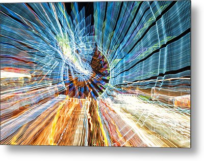 Particle Accelerator With Angel Metal Print